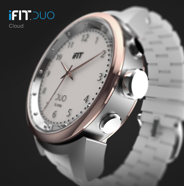 iFit Duo — Beautiful Cloud with a round face and white accents.